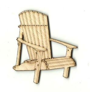 Adirondack Chair - Unfinished Laser Cut Out Wood Shape Craft Supply BCH12