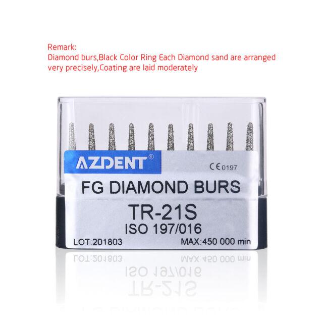 CA 1x High Speed Abrade Crown&Cavity Preparation Diamond Burs Taper Round Head