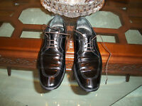 used SALVATORE FERRAGAMO black leather dress shoes size 8D Italy $525