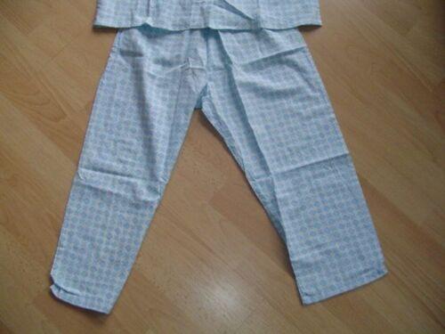 Pyjama Schlafanzug Babydoll  Retro 60er Vintage Gr.40 hellblau weiss