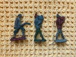 3-Antique-WW1-Flat-Lead-Soldiers-C1915