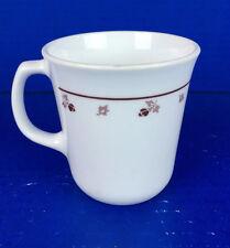 "Corelle Corning Ware ""BURGUNDY ROSE"" Coffee Mug/Cup"