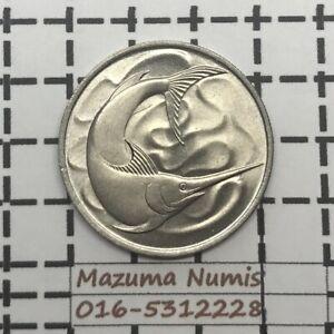 Mazuma *FC54 Singapore 1967 20 Cents UNC/BU