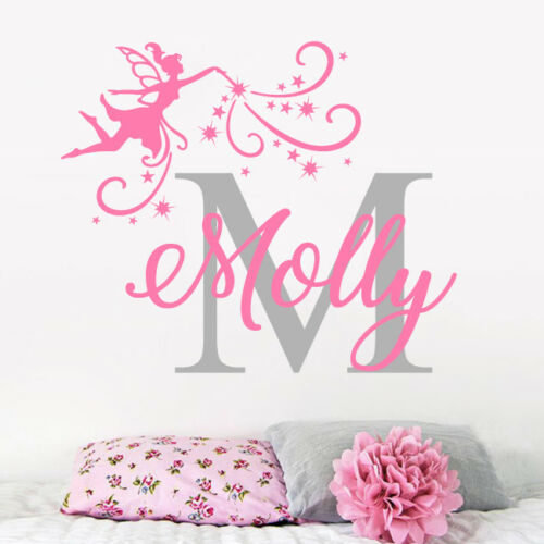 Custom Name Personalised Wall Sticker Nursery Girls initial Baby boys Bedroom