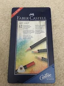 Faber-Castell-Art-Grip-Colour-Pencils-Set-of-11-Ergonomic-Triangular-Tin-Case