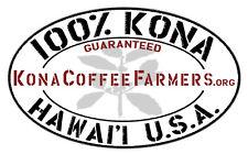 100 % Hawaiian / Kona Coffee Beans Medium Roasted Every Day 7 / 1 Pound Bags