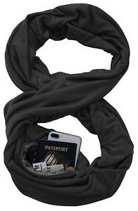 Unisex-Warm-Fashion-Infinity-Scarf-with-Zipper-Pocket-Theftproof-Cotton-Blend