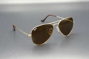 ray ban aviator sunglasses gold frame brown lenses