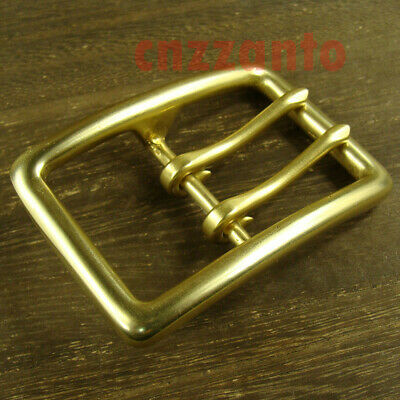 For 38mm width belt Solid Brass Vintage Classical Tongue Pin Hippie Belt Buckles