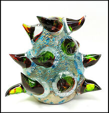 DALE CHIHULY Rare Original Venetian Vase Hand Blown Glass Signed Authentic Art
