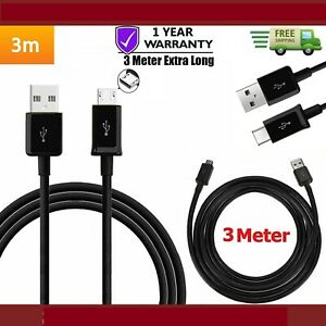 3-M-Extra-Long-Micro-USB-Donnees-Cable-De-Chargeur-Pour-Huawei-MediaPad-T2-7-0-034-10-0-034-Pro