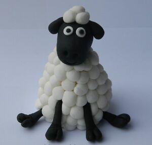 edible 3D SHEEP CAKE DECORATION farm BARNYARD topper SHAUN ...