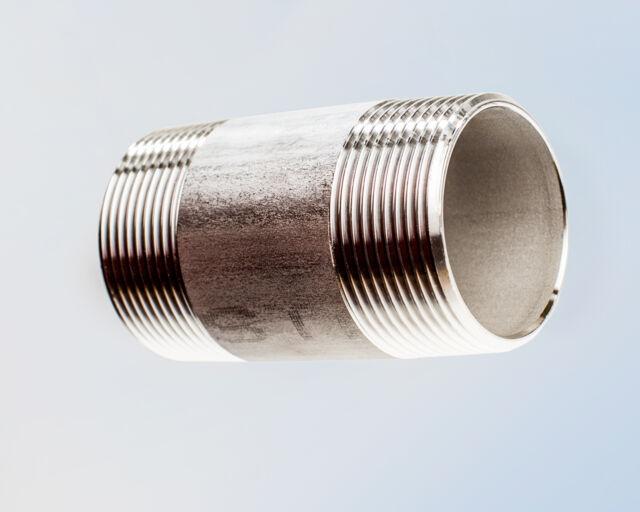Edelstahl Rohrnippel AG 1/4 - 3/8 - 1/2 - 3/4 - 1 - 1 1/4 - 1 1/2 - 2 - 3 Zoll