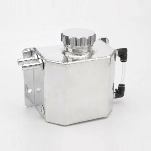 1L Aluminum Brether Radiator Fluid Oil Catch Can Reservoir Coolant Overflow Tank