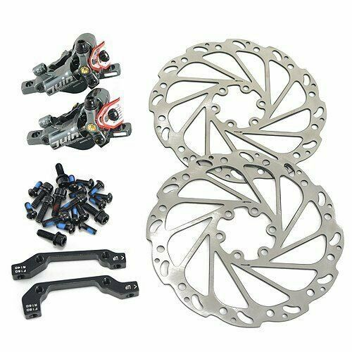 JUIN TECH R1 Hydraulic Disc Brake Set W//160mm Rotors Black vs TRP HY//RD