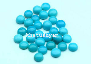AAA-Quality-25-Piece-Natural-Arizona-Turquoise-2x2-MM-Round-Loose-Cabochon-Gems