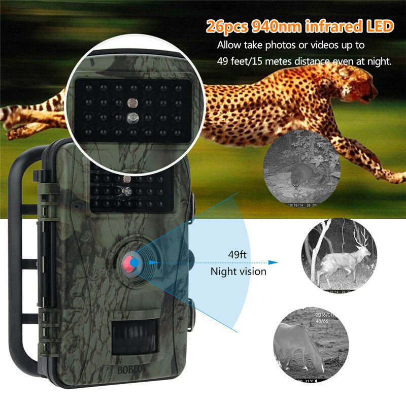 2MP 720P Hunting Camera Trail Scouting Game Wildlife Night Vision LED Infrared