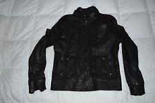 Authentic D&G Dolce & Gabbana Mens Black Leather Jacket Size 54