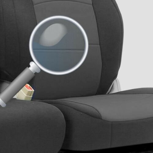 Fiat Ducato Scudo Iveco Daily Fundas de Asiento Gris Negro Tela para 2+1 Nuevo