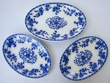 VINTAGE JOHN MADDOCK AND SONS ADAMANT HOTEL WARE SET OF 3 OVAL SERVING PLATES