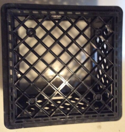 Milk Crate Heavy Duty Plastic Storage Container Stackable Handled Tote Free Ship