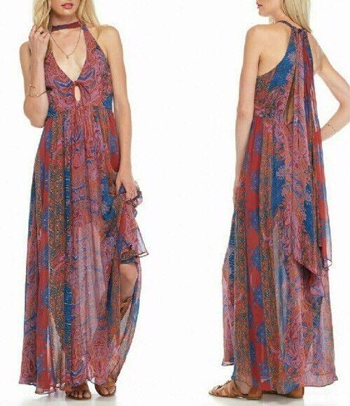 FREE PEOPLE   Unattainable Maxi Dress women's sz 0  198 NWT