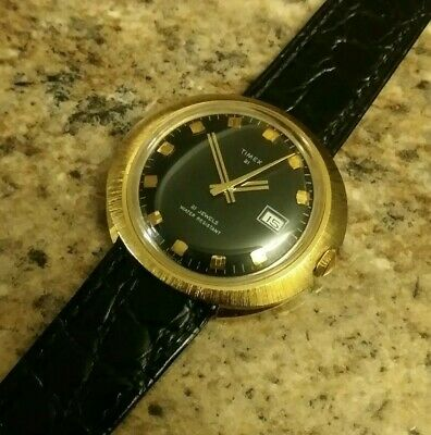 Jewelry & Watches Fashion Style Vintage Rare 1972 Timex 21 Jewels Marlin Men's Dress Watch Pristine&serviced Comfortable Feel