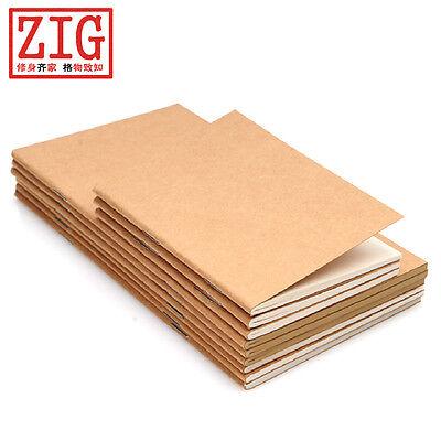 ONE Travel/Passport size notebook sketching KRAFT/WHITE inner paper, 32 Sheets