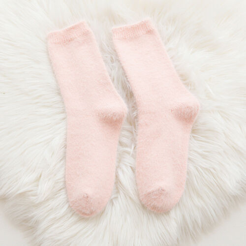 Fashion Women Winter Hairy Warm Socks Solid Casual Thicken Imitate Mink Socks