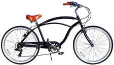 Fito Marina Aluminum 7 Sd Matte Black Light Weight Mans Beach Cruiser Bike