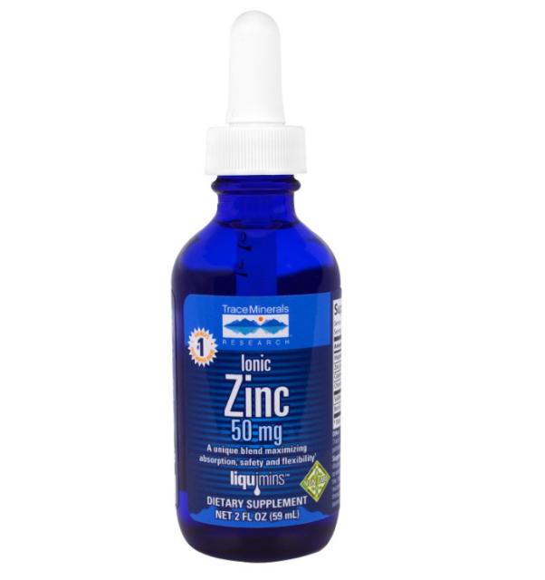 NEW TRACE MINERALS RESEARCH LIQUIMINS IONIC ZINC VEGAN GLUTEN FREE BODY HEALTHY