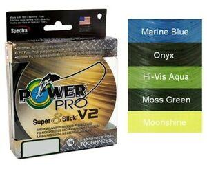 40 lb 300 Yds . POWERPRO Super Slick Braided Spectra Ligne de Pêche environ 18.14 kg Aqua Vert