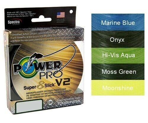 Power Pro Super 8 Slick V2 Onyx 20 lb 300 yards