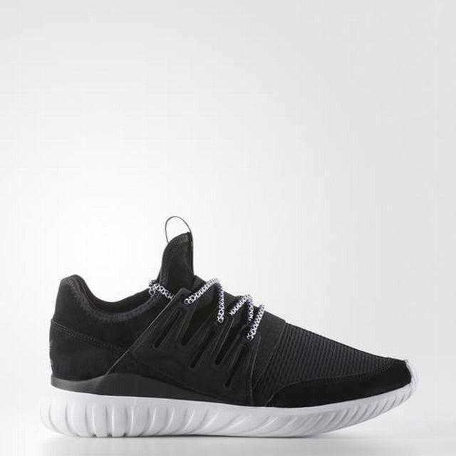 Adidas Original Men's Tubular Radial NEW AUTHENTIC Black White BB2401