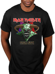 6444d0b27b04 Official Iron Maiden Legacy Of The Beast Tour T-shirt European Tour ...