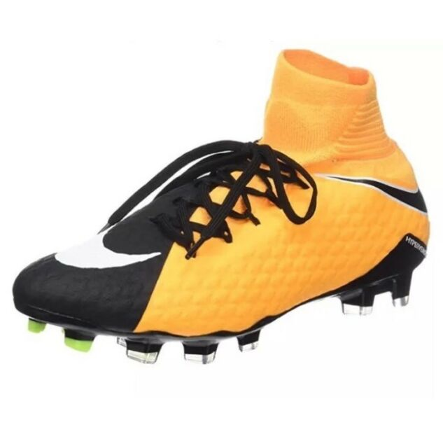 quality design 6e393 50900 Nike Hypervenom Phatal III DF FG Soccer Cleats Black Yellow - 852554-801 -  SZ