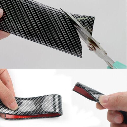 3CM*1M Car Accessories Door Sill Scuff Pedal Protect Carbon Fiber Rubber Sticker