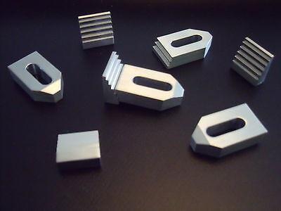 4 Aluminium Spannpratzen mit Treppensteinen, Mini bis M6,Fräsen,Spanneisen,