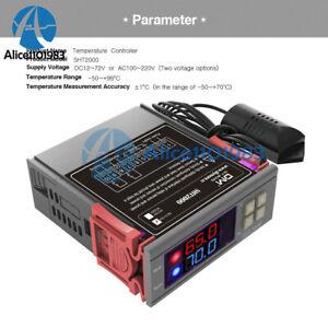 Digital STC-1000//SHT2000 110-220//230V Temperature Humidity Controller Thermostat