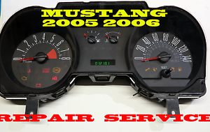 2005 to 2008 Ford Mustang Instrument Cluster REPAIR SERVICE 2006 2007