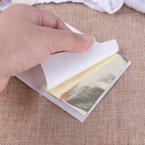 DIY 100 Blatt Goldfolie Blatt Vergoldung Handwerk Handwerk Papier DekorationEN