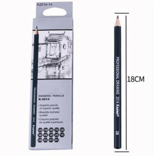 14x Charcoal Artist Sketch Graded Pencils Sketching/&Drawing 6B-6H Writing Useful