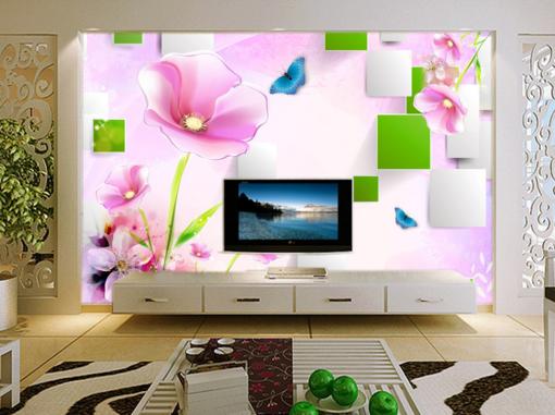 3D Flower Butterfly 7 Wall Paper Murals Wall Print Wall Wallpaper Mural AU Kyra
