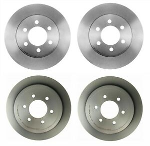 Rear OE Brake Calipers Rotors /& Ceramic Pads For 6 LUG FORD F150 LINCOLN MARK LT