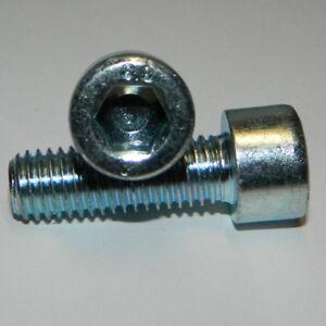 Zylinderschrauben Gewinde M6x16mm Stahl verzinkt DIN912  Innen 6-Kant 25 Stk