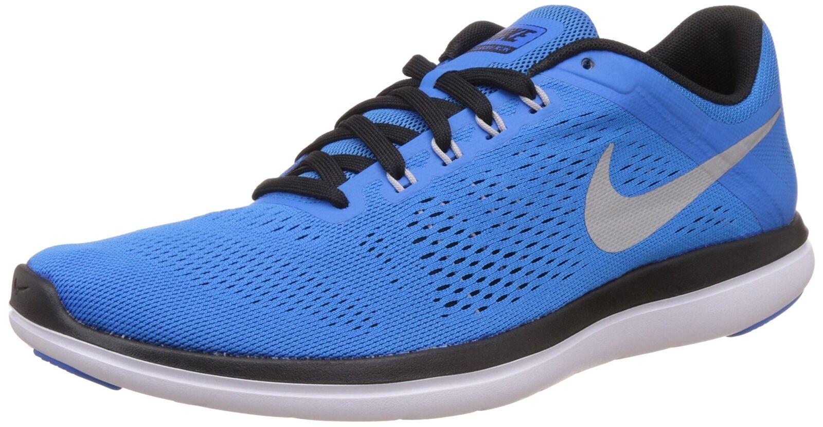 97c163a72083b Mens Nike Flex 2016 RN Running Shoes Size 13 Blue White Black Silver ...