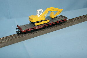Marklin-DB-Flat-Car-with-Wiking-Crane-034-Leonard-Weiss-034-Yellow-598-7