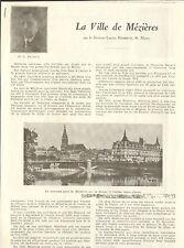08 LA VILLE DE MEZIERES ARTICLE DE PRESSE PAR DOCTEUR LUCIEN BRIDOUX MAIRE 1937