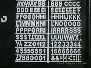 """New  White 1"""" Menu & Message Board Letters & Numbers periods,hyphen<wbr/>s,commas etc"""