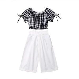 Off-Shoulder-Crop-Top-And-Elastic-Waist-Pants-Clothing-Set-For-Toddler-Girls-New